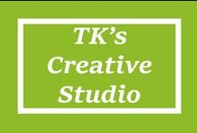 TK's Dream Creative Studio / Every creative needs there space. Soon, I will have mine, complete with an epic book case and the smell of coffee