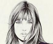 // Jane Birkin // / Un tour d'horizon de la mode, du maquillage, des coiffures portés par Jane Birkin.