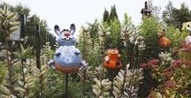 Garden decorations. / The garden figurine is:  - colorific garden decoration,  - nice decorative & humoristic accents,  - remarkable details & quality  - handmade.