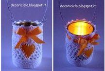 lanterne riciclose e porta-candela / lanterne e porta-candela realizzati con materiali di riciclo