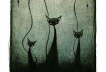 gatti / I gatti, animali affascinanti e misteriosi, sia veri che realizzati con ogni materiale e stile.