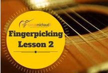 Guitar Fingerpicking/Fingerstyle / Over the years, I've found that many people who want to learn fingerpicking guitar try to start with something that is too difficult and develop and lot of tension in their left hand. It's important to start simple and stay relaxed so as you progress your motions will be fluid. In these three videos I explain this concept further and give you specific exercise to practice.