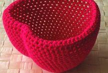 Crochet Baskets / Tığ işi kutular ve sepetler