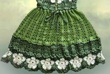 Crochet Baby Dress&Skirt / Tığ işi bebek elbise ve etekler