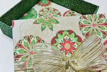 MDF Natal / Caixas de MDF revestidas com tecidos natalinos.