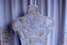 patchwork senz'ago / creazioni di stoffa (riciclata e non) su base di polistirolo
