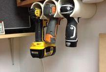 organizzazione salva-spazio / Idee furbe, spesso realizzate con materiali di recupero, per organizzare gli spazi, gli oggetti e gli utensili in modo creativo/salva-spazio/originale