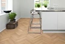 Herringbone Flooring / Feeling daring? A Kährs Herringbone floor is classic, yet steals the show.