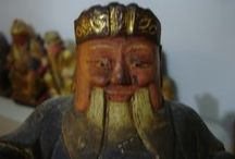 Antique Taiwan God Statues / God Statues from Old Taiwan