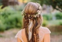 wedding hair ideas / bruidskapsels en haaraccessoires