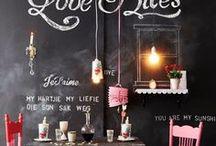 Tafelfarbe DIY / Chalkboard / Ideen mit Tafelfarbe oder Tafellack, DIY Tafelfarbe, Mit Tafelfarbe streichen, einrichten mit Tafelfarbe