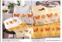 vyšívání ručníky