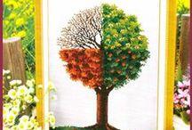 vyšívání stromy