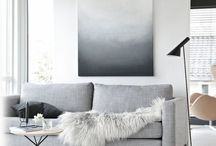 Wohnen - Trendfarbe grau / Wohnideen in modernem grau, grau streichen, graue Deko, graue Wände, grau, Ideen mit grau, Trend grau, grey living