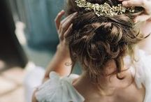 WEDDING bridal hair / bridal hair style inspiration, flower crowns and up do's for your wedding day