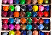 Colours : Colourful Imagination / Colours of the rainbow imitated by us in our designs, buildings and creativity. Beautiful.