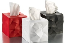 Wipy / With crumpled surfaces visually communicating its purpose Wipy is the perfect trendy cover for cube tissue boxes.  A stylish accessory for any room and perfect for the bathroom or dressing table, Wipy is designed to fit most cube shaped tissue boxes from brands like Kleenex, Lotus etc.  Just like its cousin Bin Bin, the New York Museum of Modern Art chose Wipy for its store.