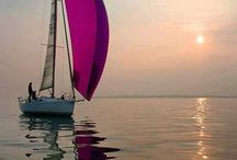 Boat On the Water / Vessels floating in calm, tranquil or rough waters.  Beautiful shots of boats, ships, yachts or other water craft with equally beautiful background scenery.