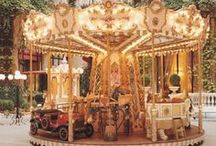 Carousels (Merry-go-Rounds)  / They are always such a fascination, from the simplest to the most beautifully designed and decorated.