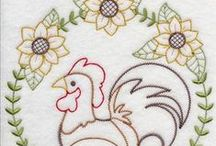 Chicken - Embroidery / by Judyth Lutt