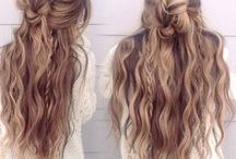 Hair / Hair. Boho. Bohemian. Hipster. Gypsy. Romantic. Simple. Curls. Blond/ Brown...