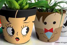 Garden Art / flower pot