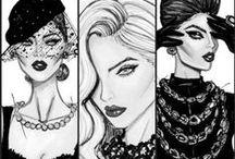 Illustrations: Hayden Williams fashion illustrations / #hayden #williams #fashion #illustrations