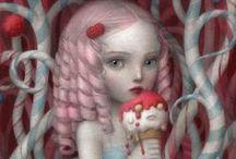 Art - Nicoletta Ceccoli / #nicoletta #ceccoli #art #nicolettaceccoli #nicoletta ceccoli #surrealism #pop
