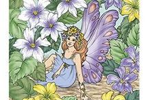 Fairy Adult Coloring Books / If you love fairies and love adult coloring books you will love this selection of fairy adult coloring books. #fairycoloringbook #fairycolouringbook #adultcoloringbooks #fairy