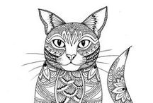 Cat Adult Colouring Pages / Feel like coloring Cats but only want a page not a whole book?   That's good news because we have found a ton of cat coloring pages ready for you to color. #catcoloringpage #creativecats