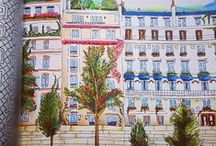 Secret Paris - adult coloring book - colored pages / If you bought Secret Paris by Zoe de Las Cases you might be looking for some inspiration to start your coloring.  Check out the gallery of completed coloring pages from the adult coloring book Secret Paris for ideas. #secretparis #coloringbook #colouringbook #adultcolouringbook #pariscoloring