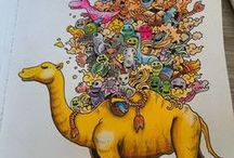 Doodle Invasion Coloring Book Completed Pages Inspiration / Doodle invasion is a #coloringbook filled to the brim with intricately designed doodles.  The doodles fill the whole of the page and will take you hours to complete #doodle #doodlefusion #kerbyrosanes