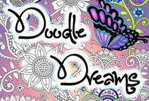 Doodle Coloring Books for Adults / Doodling has become a real art form now and it is a fun way to relax by doodling and also by coloring doodles from others.    There are no rules with #doodleart and it can be anything that you doodle #doodlefusion #animorphia #imagimorphia #arttherapy