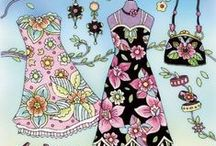 Fashion & Design Coloring Books / If you love fashion whether it is in clothes or home decor you will love the coloring books that are themed on fashion.   Fancy coloring clothes, wallpaper or a whole house?   There is a coloring book for you #coloringbook #adultcolouring #fashioncoloringbook