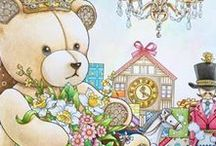 """The Present / The Night Voyage Coloring Book Completed Pages Inspiration / The Present is the third coloring book by talented Korean illustrator Daria Song.     This book was  released in Korea in December 2015 titled """"The Present"""".  It is due for release in Japan under the same name.  In the US it will be released later in 2016 as """"The Night Voyage"""".  Depending on the country of publication the cover may be different.  This is her version of a Christmas style colouring book for adults.  Read the review at ColoringQueen.net #thenightvoyage #thepresent #dariasong"""