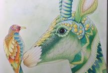 Wild Savannah coloring book completed pages inspiration / Wild Savannah is the third adult coloring book by Millie Marotta.  Millie is a Welsh artist that has previously created two #colouringbooks #animalkingdom #tropicalworld #tropicalwonderland If you love coloring animals and intricate design you will enjoy this book