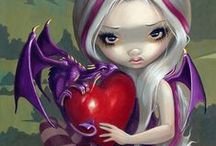Jasmine Becket-Griffith Coloring Book / Jasmine Becket-Griffith is a well known fantasy artist.  She has released a coloring book based on her fantasy art.    In it you will find the beautiful, ethereal fairies that she paints that you can bring to life with color. #fairyart #jasminebecketgriffith #fantasycoloringbook #halloweencoloringbook