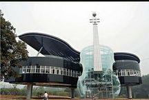 Architecture: strange, amazing, futuristic, etc.