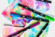 Tombow Markers / Tombow markers are made by Tombow.   These markers are water based and can be used like a marker or blended with water #tombow #tombowmarkers #waterbasedmarkers