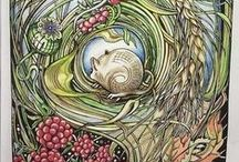 Manic Botanic completed pages / Manic Botanic is full of intricately designed botantical images.  It is unlike other coloring books due to the complexity of the designs.  #coloringbook #flowercoloringbook