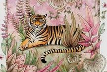 The Magical Jungle / The Magical Jungle is the fourth coloring book by adult coloring book artist, Johanna Basford.    Get coloring inspiration for your next colored page from The Magical Jungle here.