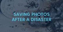 Saving Photos After A Disaster / Tips to save your photos after a disaster like a hurricane, flood or fire. Tips from The Photo Organizers. ThePhotoOrganizers.com #thephotoorganizers