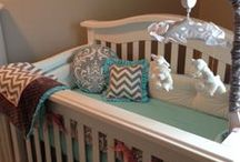 Tufted-style Crib Bumper Pads / Crib bumper pads with tufted-style stitching