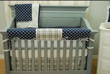 Grey Crib Bedding / Grey is popular in the nursery, so it's fun to see ideas for grey bedding, furniture or decor.  With grey being neutral, you'll see it in both boy or girl projects.