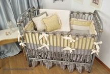 Yellow in the nursery / Yellow crib bedding ideas for the custom baby nursery