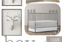 Animal Theme Nursery / Animal print custom crib bedding in the baby nursery