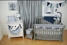 Nautical theme nursery / Nautical fabrics for the custom baby nursery bedding