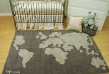 World Maps in decor / World Map Fabric and Prints in the nursery or kids room for a transportation theme nursery