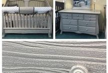 Rustic Decor for babies and kids / Rustic Decor can have a theme, or just be a vintage/up-cycled item in the nursery