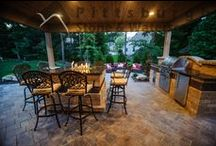 Outdoor Dining at its Finest / Outdoor kitchens are an impressive and striking addition to any backyard or landscape!